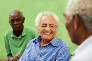 happy elderly seniors
