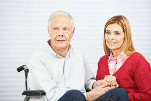 daughter and senior man